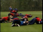 Aston Villa v Manchester United LIB England RUFC players training