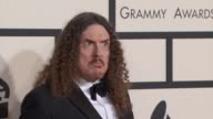 Weird Al' Yankovic and Suzanne Krajewski at the 57th Annual Grammy Awards Red Carpet at Staples Center on February 08 2015 in Los Angeles California