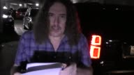 Weird Al Yankovic greets fans while arriving at LAX Airport in Los Angeles in Celebrity Sightings in Los Angeles
