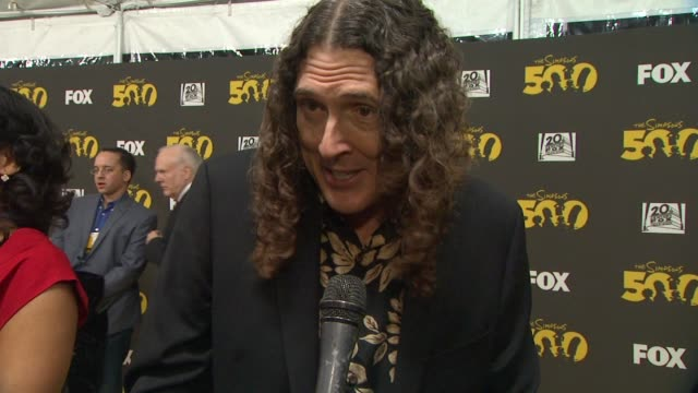 'Weird Al' Yankovic on his love for the show at The Simpsons 500th Episode Celebration On The Yellow Carpet in Hollywood CA on 2/13/12