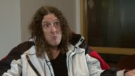 Weird Al Yankovic on how most artists accept his parodies on Eminem not allowing him to do a video at the Weird Al Yankovic Interview at London...