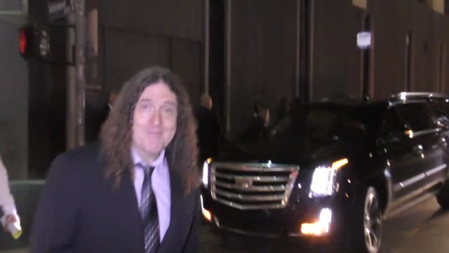 INTERVIEW 'Weird Al' Yankovic talks about Hamilton outside Hamilton Opening Night at Pantages Theatre in Hollywood in Celebrity Sightings in Los...