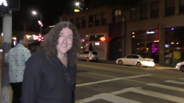 INTERVIEW 'Weird Al' Yankovic talks about not doing any more albums outside TAO Restaurant in Hollywood in Celebrity Sightings in Los Angeles