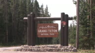 MS, ZI, CU, Welcome sign, Grand Teton National Park, Wyoming, USA