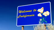 Welcome to California sign Close Up