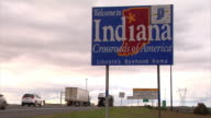 'Welcome to Indiana' sign
