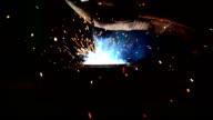 welding steel close-up