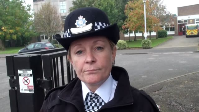 A welfare officer was stabbed at Winterton Community Academy in North Lincolnshire Chief Superintendent Chirstine Wilson gives an interview outside...