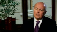 Universal Credit gradually underway London INT Iain Duncan Smith MP interview SOT At the moment the benefits are all taken away at different rates...