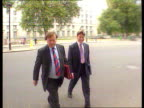 Leaks show government review ENGLAND London MS Kenneth Clarke and Michael Portillo towards PAN LR as past to BV and into Cabinet Office