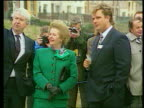 Audit office questions finances SEQ Jones with then PM Margaret Thatcher MP on visit with Peter Walker MP