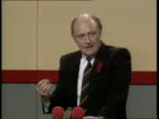 Welsh Labour Party Conference **** FOR WALES Llandudno Neil Kinnock along and into the Aberconvy Centre Kinnock and wife Glenys on platform as...