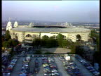 Wembley Stadium with packed car park in foreground before international friendly England vs Argentina London 13 May 80