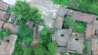 Wenchangli under rebuild aerial view, this area is  the old town of Fuzhou city