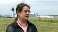 World Health Organisation steps up response ENGLAND Greater Manchester Manchester Aiport EXT Reporter to camera Lucy Moreton interview SOT