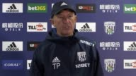 West Bromwich's head coach Tony Pulis speaks to the media ahead of his side's upcoming Premier League fixture at home to Stoke