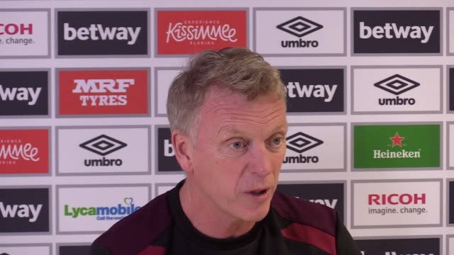 West Ham manager David Moyes gives a press conference ahead of the team's Premier League match against Watford