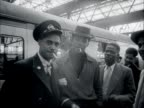 West Indian immigrants arrive at Waterloo Station after arriving in the UK at Southampton docks