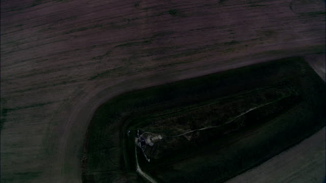 West Kennet Long Barrow  - Aerial View - England, Wiltshire, United Kingdom