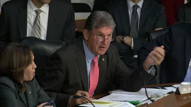 West Virginia Senator Joe Manchin of the Senate Intelligence committee engages a Google YouTube representative over the exaggerated viewership of...