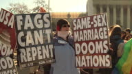 Westboro Baptist Church Protests Gay Marriage at Supreme Court on March 27 2013 in Washington DC