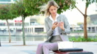 Western expat businesswoman in Dubai