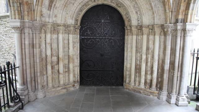 Western portal, Temple Church, London
