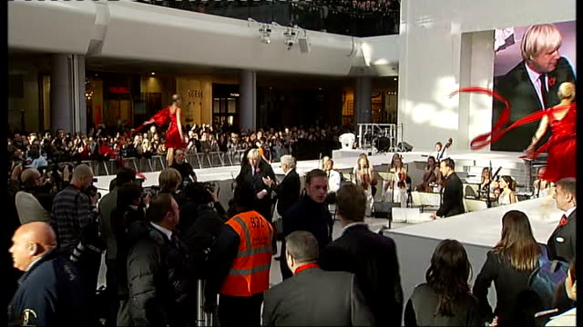 opening ceremony shoppers ENGLAND London Westfield Shopping Centre INT **Music heard over following shots** Boris Johnson cuts red ribbon at...