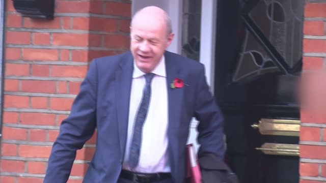 All party meeting agrees on new safeguards in Parliament London EXT Damian Green MP leaving house and along to car Car along