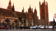 Westminster and Houses of Parliament, London, timelapse (HD)