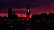 Westminster & Big Ben, River Thames, London at Dusk