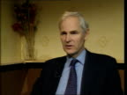 INT David HeathcoatAmory MP interview SOT Talks of Robinson lying to previous inquiry Coventry People waiting in barbers shop PAN people having their...