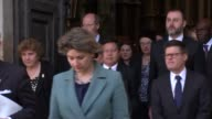 Westminster Abbey service departures ENGLAND London Westminster Westminster Abbey EXT Amber Rudd MP from Abbey / John Bercow MP / GVs Westminster...