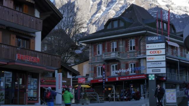 Wetterhorn and Grindelwald Village, Bernese Oberland, Canton of Bern, Switzerland, Europe