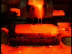 Wheel being turned closeup molten gold molten gold bubble filmed at a now defunct gold mine near Brisbane Australia Smelting Gold Archive on July 27...