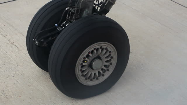 Wheel Of An Airplane Taking Off