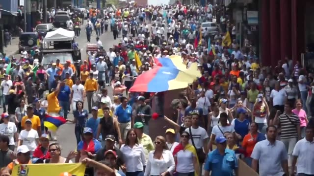 Whilst violent protests erupted in Caracas demonstrators also gathered in the city of San Cristobal to march to the Ombudsman's office and then to...