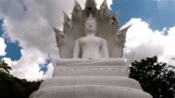 white big buddha in phuket thailand time lapse