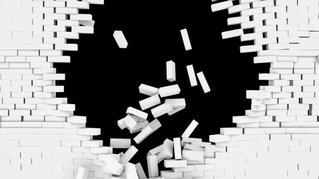 White brickwall explosion