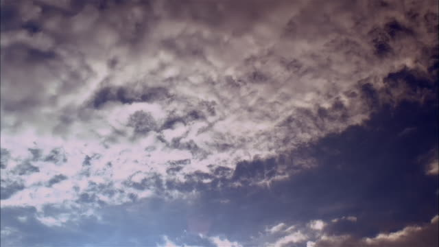 LA, WS, T/L, White clouds against blue sky