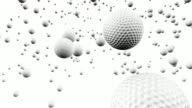 White Golf Balls Bouncing