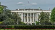 White House South Lawn Washington, DC in 4k/UHD as Time Lapse