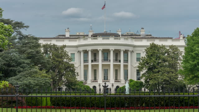 White House South Lawn Washington, DC in 4k/UHD als Zeitraffer