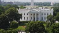 WS HA PAN White House with Washington Memorial and Jefferson Memorial in background / Washington D.C., USA