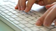 Weiße Tastatur