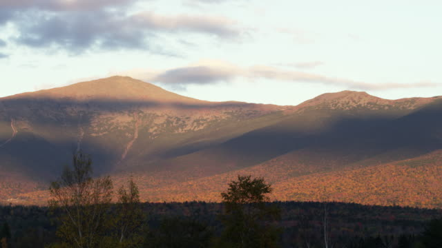 White Mountains in New Hampshire at sunset