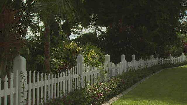 White picket fence in tropics, Australia