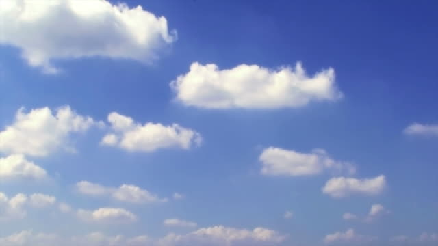 White rolling cloud in blue sky: background