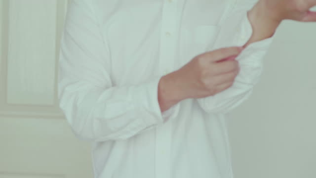 White shirt. Close-up Japan office