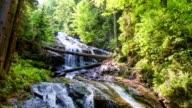 White Sulm Waterfall / Cataract - aerial view - source file cinema dng
